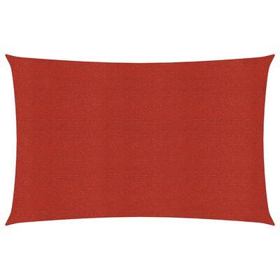 vidaXL Pânză parasolar, roșu, 2x3,5 m, HDPE, 160 g/m²
