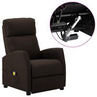 vidaXL Electric Massage Reclining Chair Dark Brown Fabric (289711+327164)