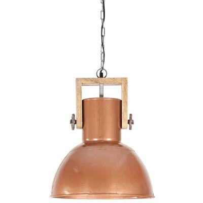 vidaXL Lampă suspendată industrială 25 W arămiu 42 cm mango rotund E27