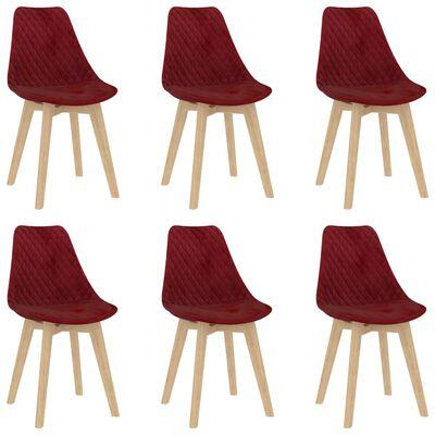 vidaXL Set de masă, 7 piese, roșu vin