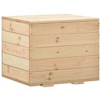vidaXL Ladă de depozitare, 60 x 54 x 50,7 cm, lemn masiv de pin