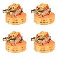 vidaXL Chingi de fixare cu clichet 4 buc, 1 tonă, 6mx38 mm, portocaliu