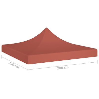vidaXL Acoperiș pentru cort de petrecere, cărămiziu, 2 x 2 m, 270 g/m²