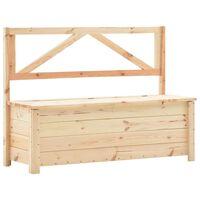 vidaXL Bancă de depozitare, 120 cm, lemn masiv de pin