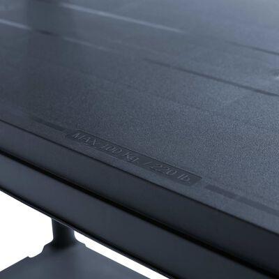 vidaXL Raft de depozitare, negru, 100x40x180 cm, plastic, 500 kg