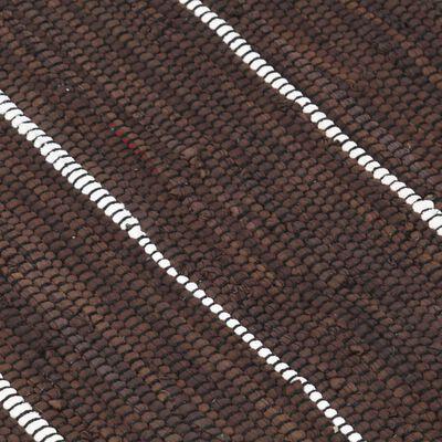 vidaXL Covor Chindi țesut manual, maro, 200 x 290 cm, bumbac