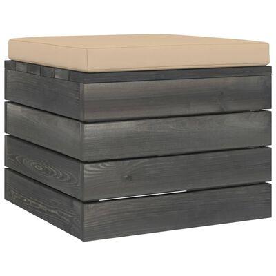 vidaXL Set mobilier grădină paleți cu perne 7 piese lemn masiv pin