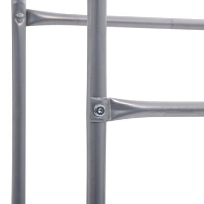 vidaXL Raft de depozitare pentru 3 lăzi, argintiu, 50x33x116 cm, oțel