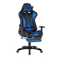 Unic Spot RO, Scaun gamer US90 Suzuka negru-albastru, 69.5x61x134.5cm
