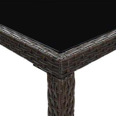 vidaXL Set mobilier bar de grădină cu perne, 7 piese, maro, poliratan