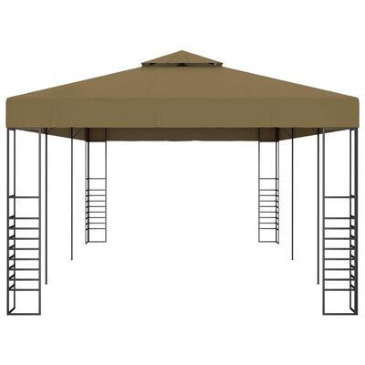 vidaXL Pavilion de grădină, gri taupe, 6 x 3 x 2,7 m, 180 g/m²