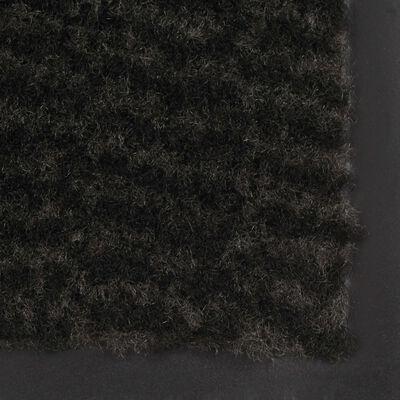 vidaXL Covor de ușă anti-praf, dreptunghiular, 60 x 90 cm, negru
