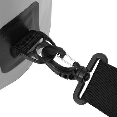 vidaXL Rucsac impermeabil, gri, 5 L, PVC