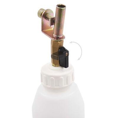 vidaXL Aparat pneumatic aerisire frâne cu sticlă de reumplere, 3,5 L
