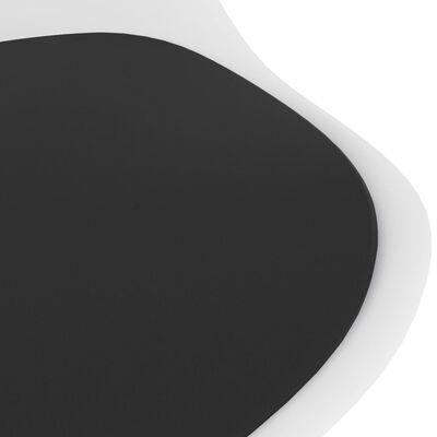 vidaXL Set mobilier de bucătărie, 7 piese, alb și negru