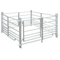 vidaXL Țarc pentru oi cu 4 panouri, oțel galvanizat, 137 x 137 x 92 cm
