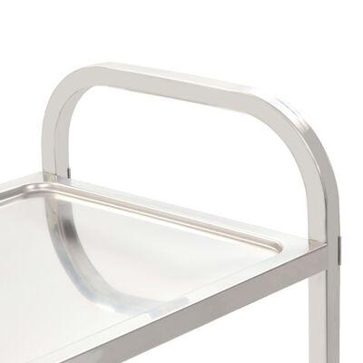 vidaXL Cărucior de bucătărie 3 niveluri 87x45x83,5 cm oțel inoxidabil