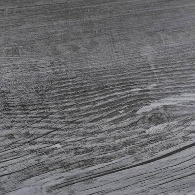 vidaXL Plăci de pardoseală, gri lucios, 4,46 m², PVC, 3 mm