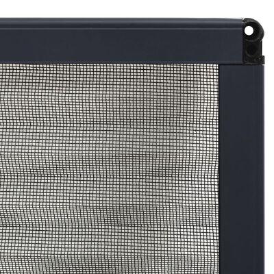vidaXL Plasă insecte plisse de ferestre, antracit, 80x120 cm, aluminiu