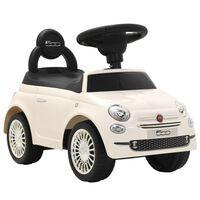 vidaXL Mașinuță fără pedale Fiat 500 alb