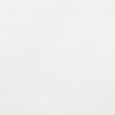 vidaXL Parasolar din țesătură oxford triunghiular, alb, 3x4x5m