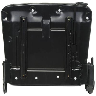 vidaXL Scaun de tractor și stivuitor cu spătar reglabil, negru