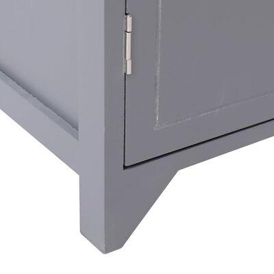 vidaXL Dulap de baie, gri, 46 x 24 x 116 cm, lemn de paulownia