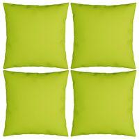 vidaXL Perne decorative 4 buc. verde aprins 60x60 cm material textil