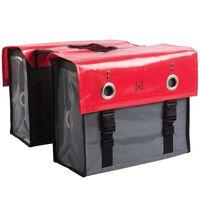 Willex Genți de bicicletă, roșu și gri închis, 52 L, tarpaulin