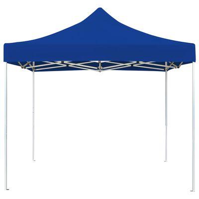 vidaXL Cort petrecere profesional pliabil, albastru, 2 x 2 m, aluminiu