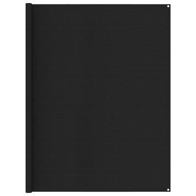 vidaXL Covor pentru cort, negru, 250x600 cm