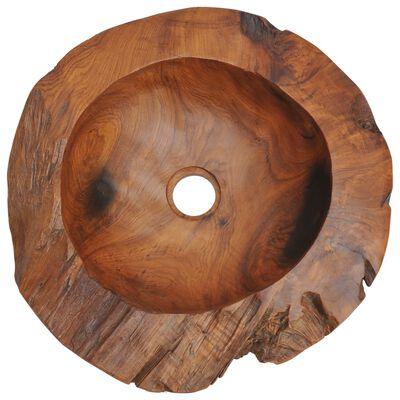 vidaXL Chiuvetă de baie din lemn masiv de tec, 45 cm