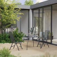 vidaXL Set de masă pentru grădină, 3 piese, antracit, oțel