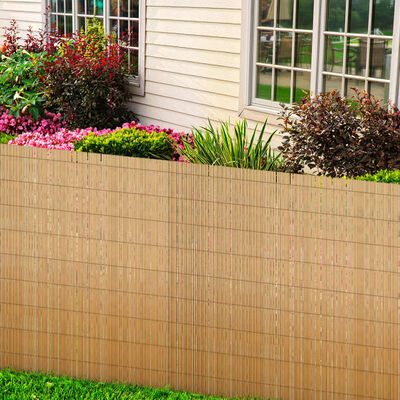 vidaXL Gard de grădină din trestie, 500 x 170 cm
