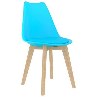 vidaXL Set de masă, 5 piese, albastru
