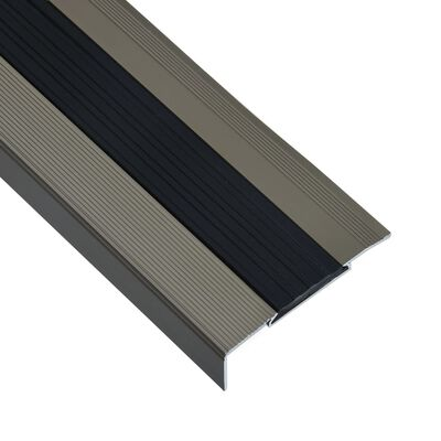 vidaXL Profile trepte în formă de L, 15 buc., maro, 90 cm, aluminiu
