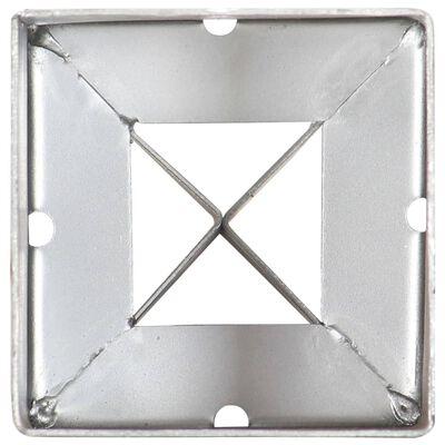 vidaXL Țăruși de sol, 6 buc., argintiu, 9x9x75 cm, oțel galvanizat