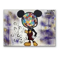 Tablou Pictat Manual In Ulei Mickey Mouse, 150 X 100 Cm