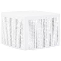 vidaXL Măsuță laterală, alb, 54 x 54 x 36,5 cm, plastic