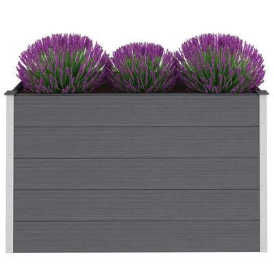 vidaXL Strat înălțat de grădină, gri, 150 x 50 x 91 cm, WPC