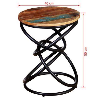 vidaXL Masă de colț din lemn masiv reciclat