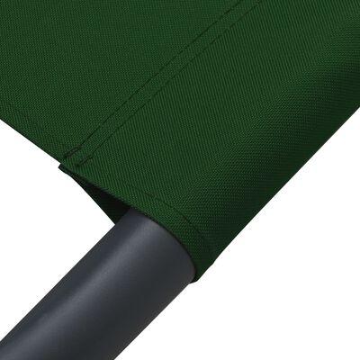 vidaXL Pat șezlong de exterior cu baldachin, verde