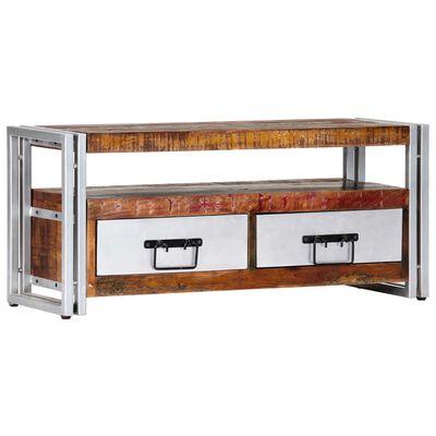vidaXL Comodă TV, 90 x 30 x 40 cm, lemn masiv reciclat