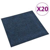 vidaXL Dale mochetă pentru podea, 20 buc., bleumarin, 5 m²