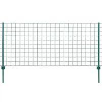 vidaXL Gard Euro, verde, 20 x 1 m, oțel