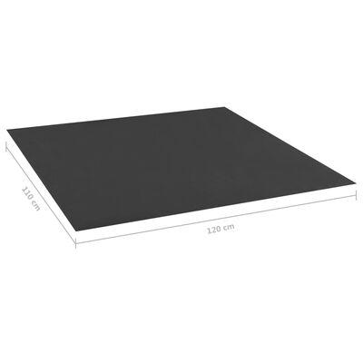 Căptușeală de nisip, negru ,120x110 cm