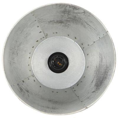 vidaXL Lampă de podea, argintiu, lemn masiv de mango, E27