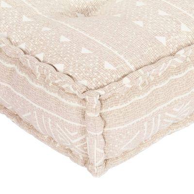 vidaXL Fotoliu puf, 100 x 100 x 20 cm, bej, material textil