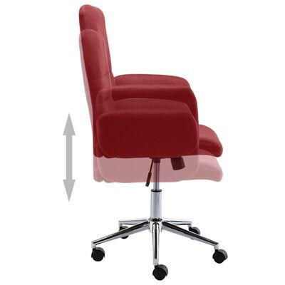 vidaXL Scaun de birou, vin roșu, material textil