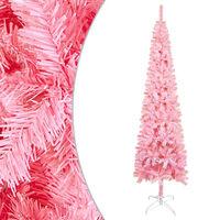 vidaXL Brad de Crăciun artificial subțire, roz, 210 cm